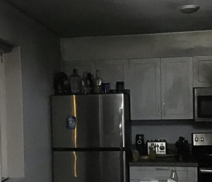 kitchen fire in a student apartment complex